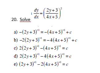 solved solve dy dx