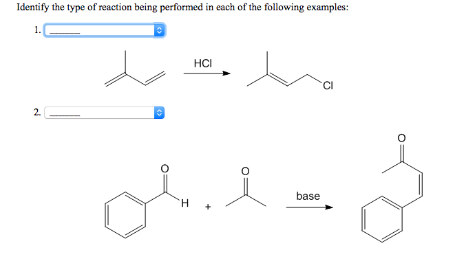 Solved: Identify The Type Of Reaction Being Performed In E
