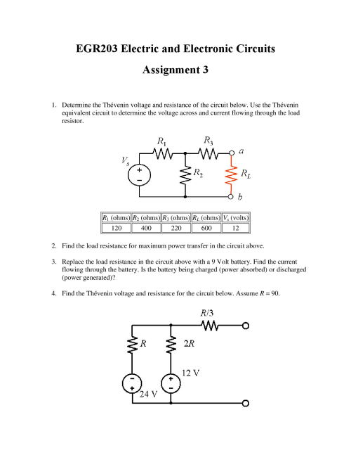 small resolution of determine the thevenin voltage and resistance of t