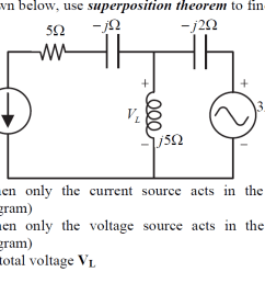 an ac circuit diagram is shown below use superpos [ 1358 x 600 Pixel ]
