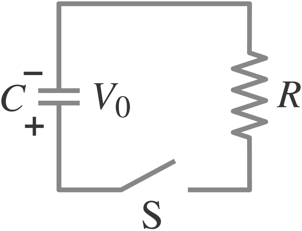 Solved: The RC Circuit Below Has And The Capacitor Is At V