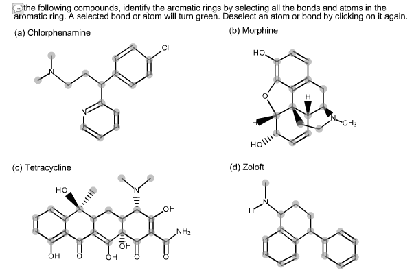 Solved: In The Following Compounds, Identify The Aromatic