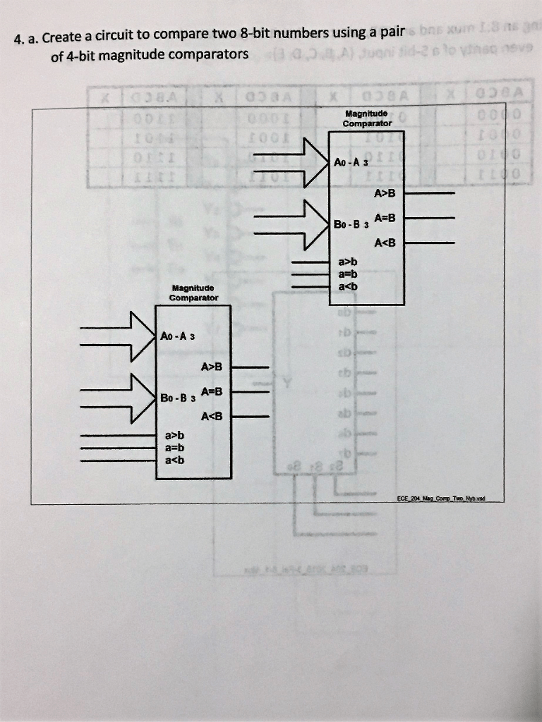 hight resolution of create a circuit to compare two 8 bit numbers using a