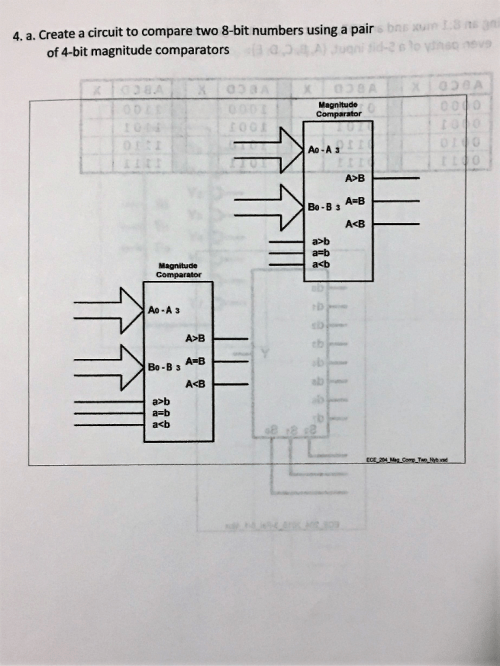 small resolution of create a circuit to compare two 8 bit numbers using a