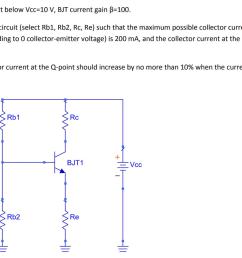 in the circuit below vcc 10 v bit current gain 100  [ 1024 x 807 Pixel ]