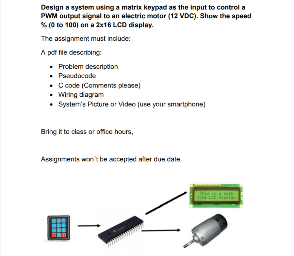 medium resolution of design a system using a matrix keypad as the input to control a pwm output signal