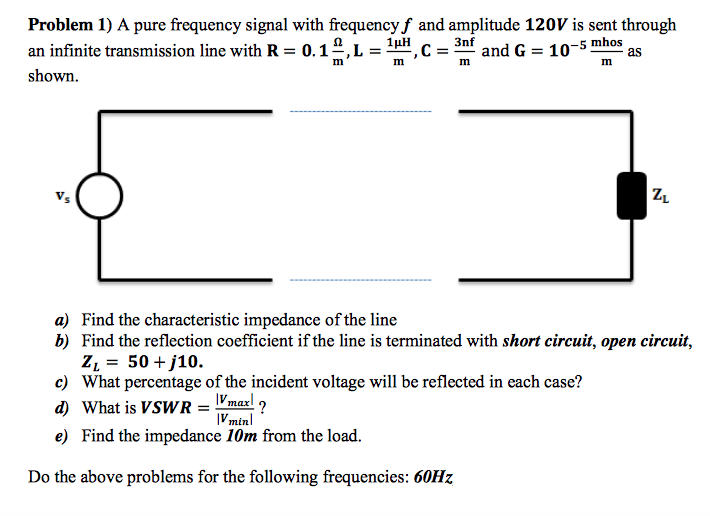 Open Circuit The Equivalent Circuit At Infinite Frequency Is