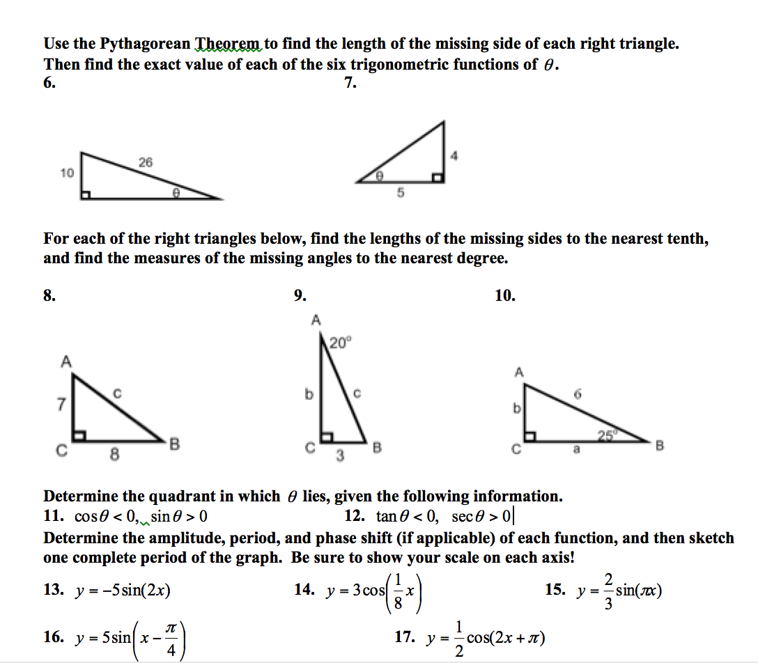 Find All Of The Missing Angles Worksheet Answer Key