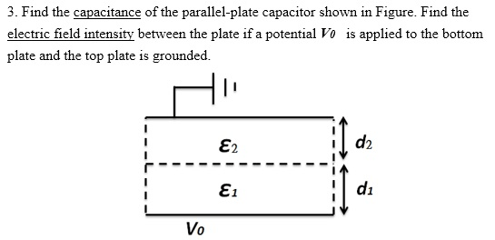 Solved: 3. Find The Capacitance Of The Parallel-plate Capa