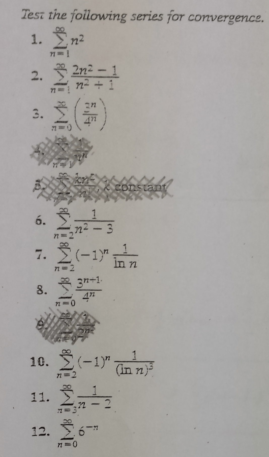Solved: Do Only '6' Of The Following Problems Not Crossed