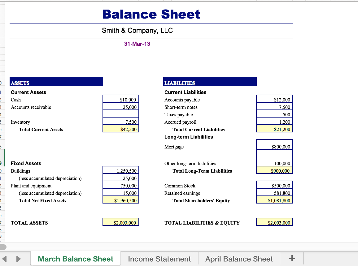 Solved Excel Income Statement Amp Balance Sheet Create An I