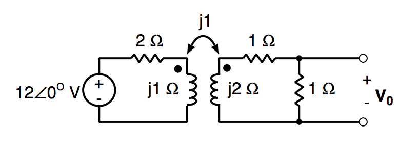 Solved: Find V0 For The Circuit With Mutual Inductance As
