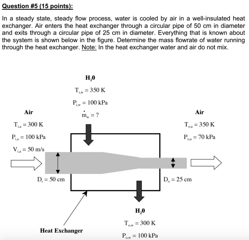 medium resolution of question 5 15 points in a steady state steady flow process water