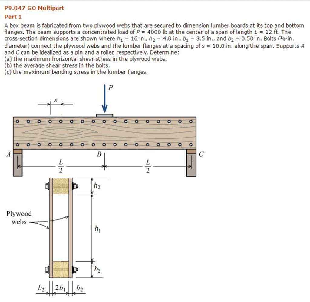hight resolution of p9 047 go multipart part 1 a box beam is fabricated from two plywood webs