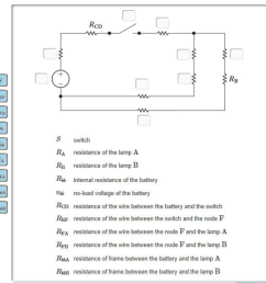 construct a circuit model using resistors and an independent voltage source identify the correspondence between the ideal circuit element and the symbol  [ 1298 x 1248 Pixel ]