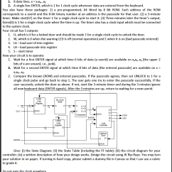 Electronic Number Lock Circuit Diagram 99 Honda Civic Ignition Wiring 1)state 2)state Table 3)circuit 4)... | Chegg.com