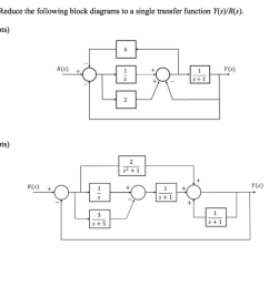30pts reduce the following block diagrams to a single transfer function y [ 1024 x 790 Pixel ]
