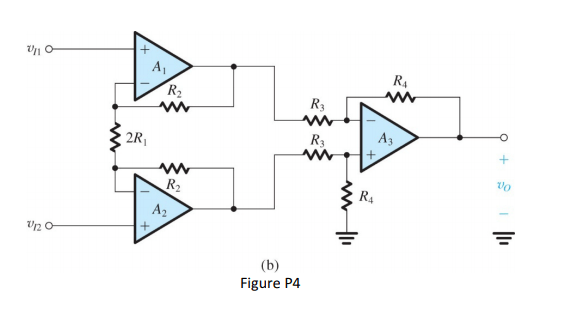 Solved: An Instrumentation Amplifier Circuit Is Shown In F