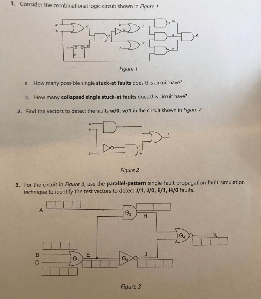 hight resolution of consider the combinational logic circuit shown in figure 1 figure t a