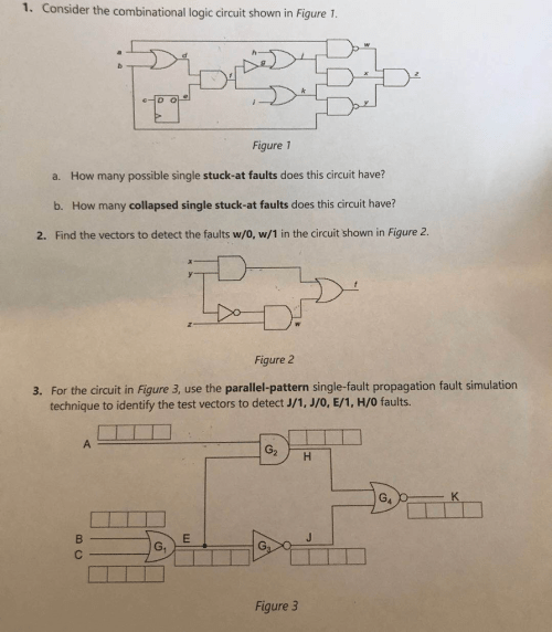 small resolution of consider the combinational logic circuit shown in figure 1 figure t a