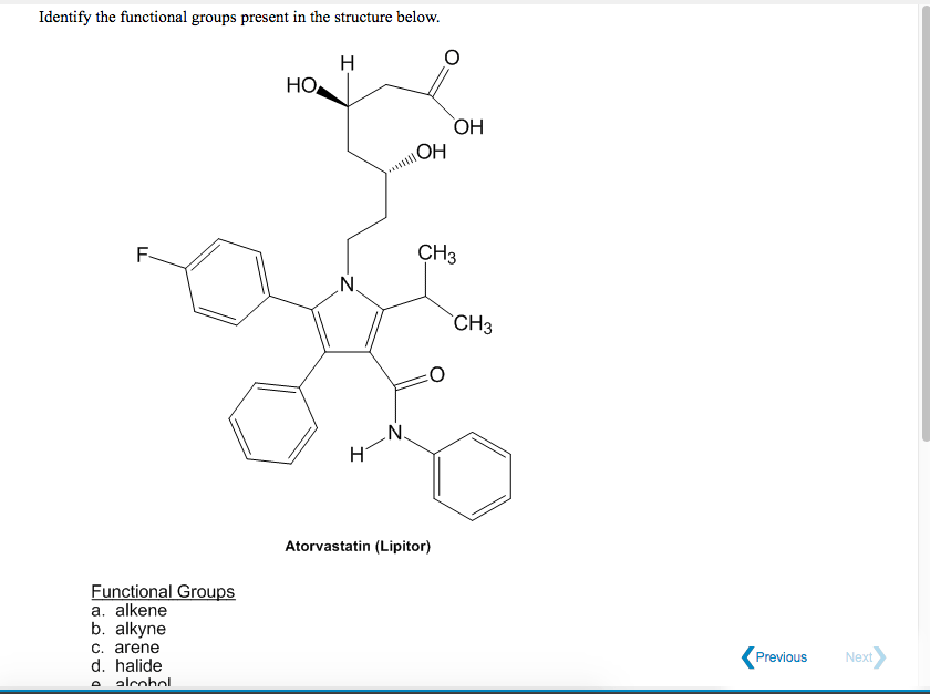 Solved: Identify The Functional Groups Present In The Stru