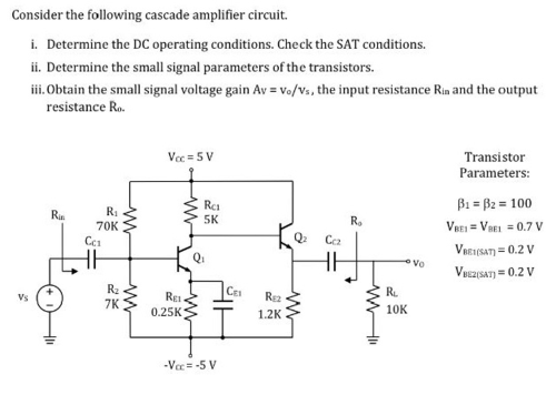 small resolution of consider the following cascode amplifier circuit consider the following cascade amplifier circuit
