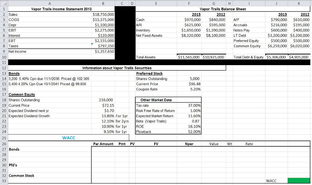 Solved: Calculate The Weighted Average Cost Of Capital (us