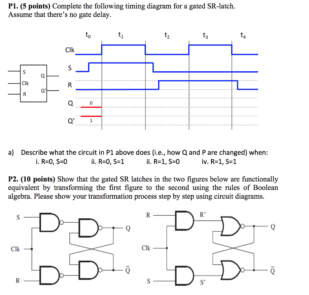 hight resolution of  5 points complete the following timing diagram for a gated sr