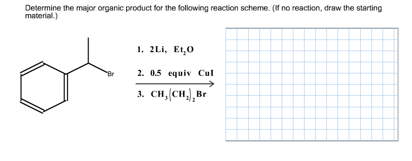 Solved: Determine The Major Organic Product For The Follow