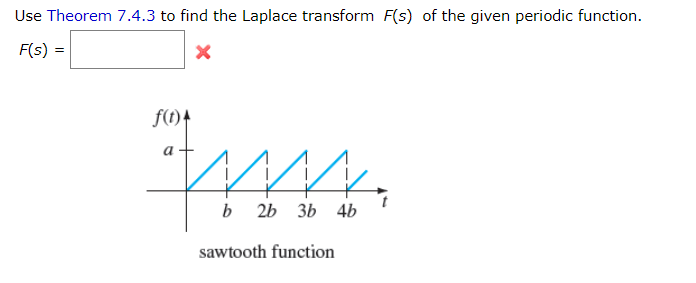 Solved: Use Theorem 7.4.3 To Find The Laplace Transform Fs