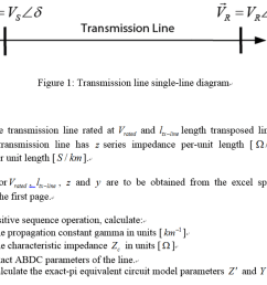 transmission line fl figure 1 transmission line single line diagram part 1  [ 1443 x 1061 Pixel ]