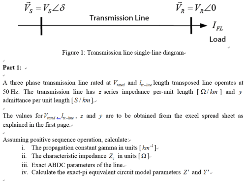 small resolution of transmission line fl figure 1 transmission line single line diagram part 1