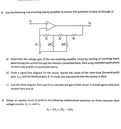 question 3 use the following non inverting opamp amplifier to answer the questions in parts a through c a determine the voltage gain of the  [ 1933 x 1853 Pixel ]