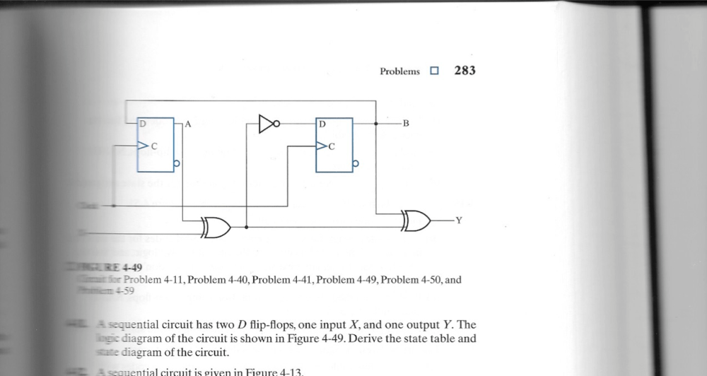 medium resolution of a sequential circuit has two d flip flops one inp