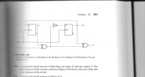small resolution of a sequential circuit has two d flip flops one inp