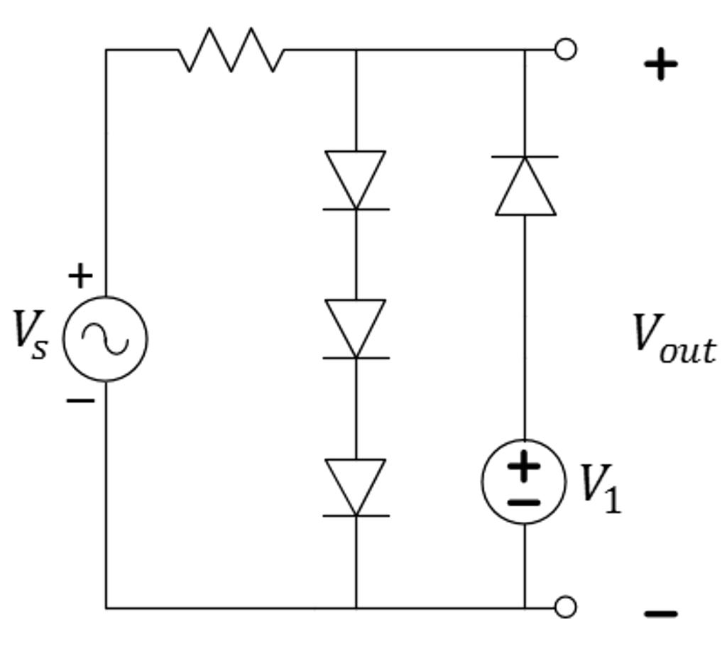 Solved: 1) Assume An Ideal-offset Model With VON=3V For Bo