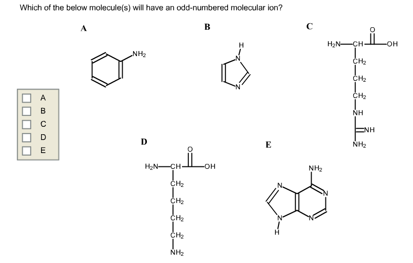Solved: Which Of The Below Molecule(s) Will Have An Odd-nu