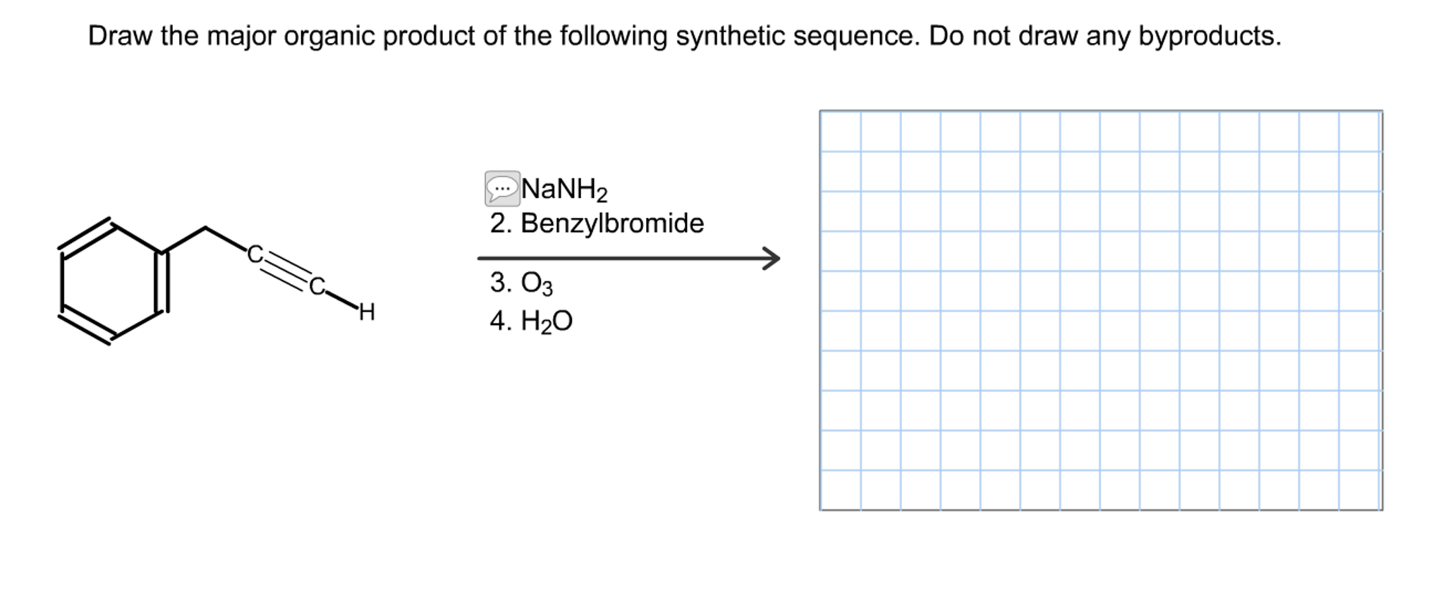 Solved: Draw The Major Organic Product Of The Following Sy