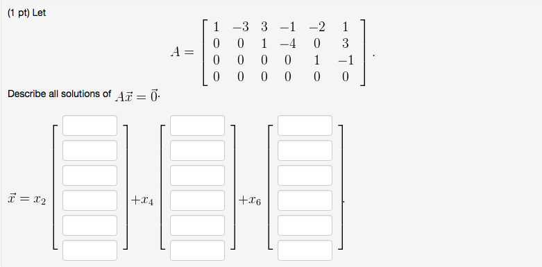 Solved: I Need Some Help With My Linear Algebra Homework