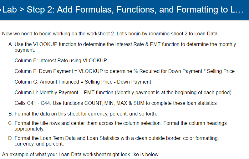 Solved: EXCEL WORKSHEET. I Need Help With The Formulas For ...