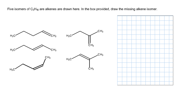 Solved: Five Isomers Of C5H10 Are Alkenes Are Drawn Here