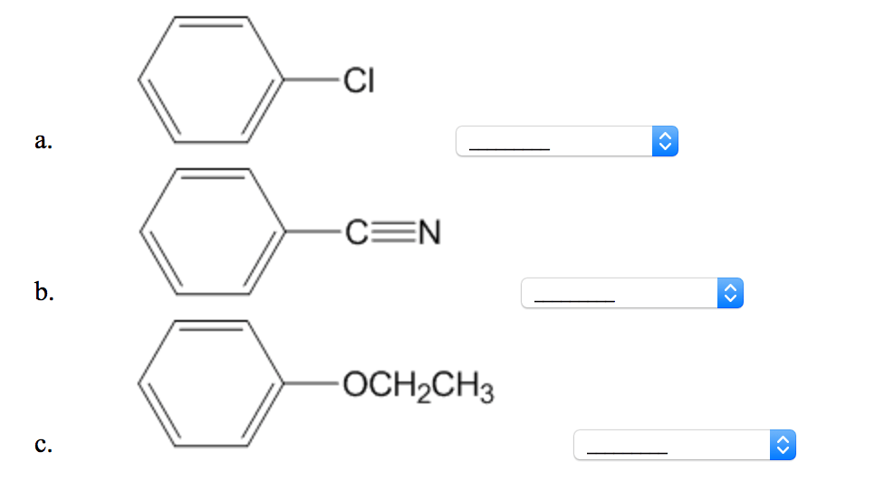 Solved: Assign The Following Three Compounds A Relative Or
