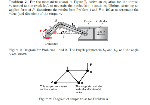 small resolution of for the mechanism shown in figure 1 derive an e