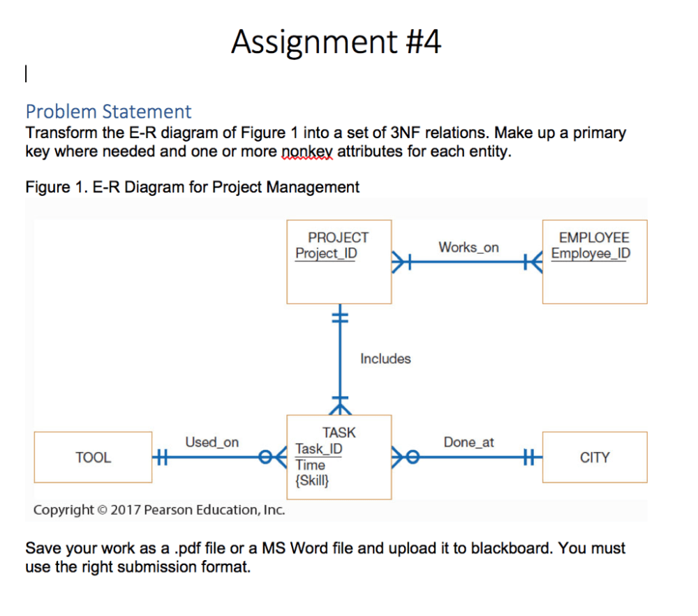 medium resolution of assignment 4 problem statement transform the e r diagram of figure 1 into a set of