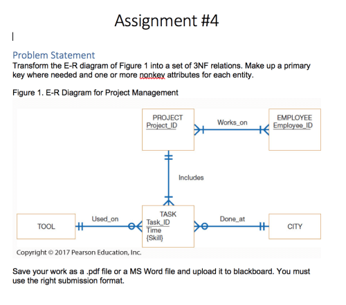 small resolution of assignment 4 problem statement transform the e r diagram of figure 1 into a set of