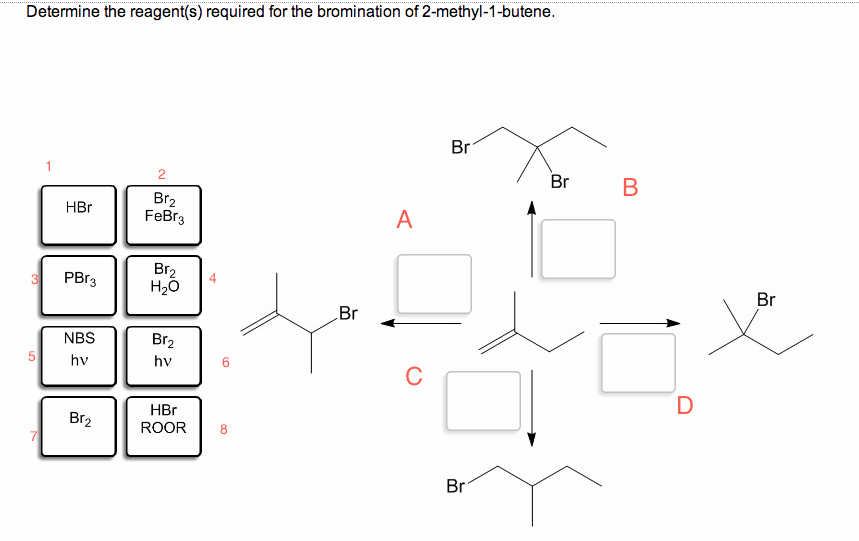 Solved: Determine The Reagent(s) Required For The Brominat
