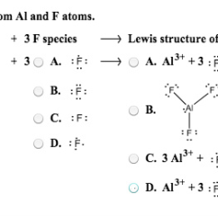 Electron Dot Diagram For Al Submersible Pump Starter Wiring Solved B Alf 3 From And F Atoms Species Sp