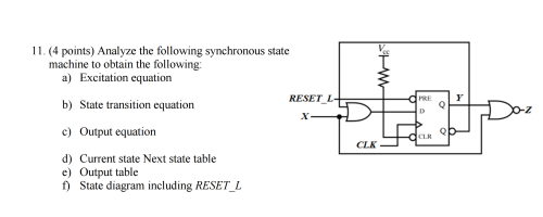 small resolution of analyze the following synchronous state machine to