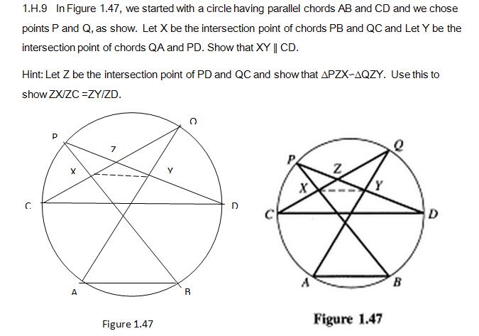 Geometry Similarity: 1.H.9 In Figure 1.47, We Star