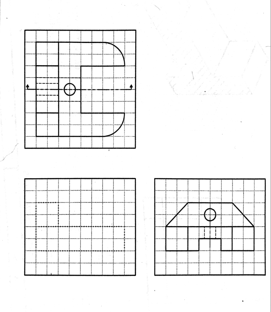 Solved: Draw The Right Side View For The First Drawing. Dr